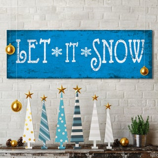 Portfolio Canvas Decor IHD Studio 'Xmas Let It Snow' 12-inch x 36-inch Stretched & Wrapped Holiday Canvas Print Wall Art