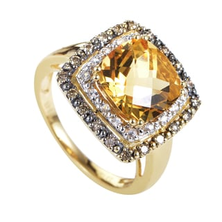 LeVian Women's 14k Yellow Gold Diamond and Gemstone Ring