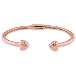 Miadora Signature Collection 18k Rose Gold Open Cuff Heart Bracelet for Baby