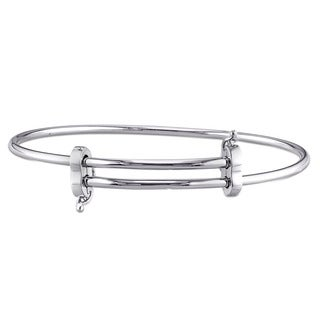 Miadora Sterling Silver Gliding Bangle for Charms