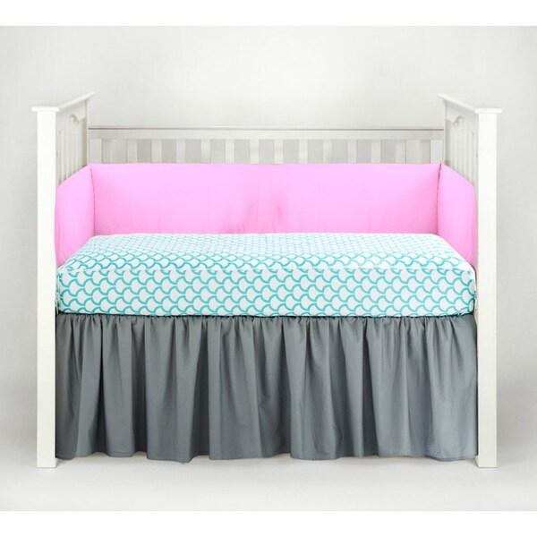 Shop American Baby Company Aqua Waves 3 Piece Crib Bedding
