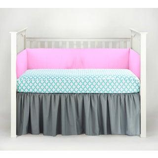 American Baby Company Aqua Waves 3-piece Crib Bedding Set