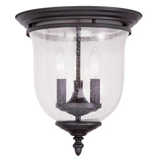 Legacy Bell Jar Black Steel and Glass Ceiling Mount