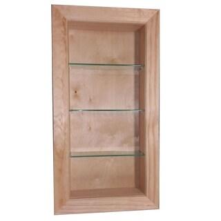 30-inch Tall 2.5-inch Deep Recessed In-the-wall Desoto Bathroom Shelf
