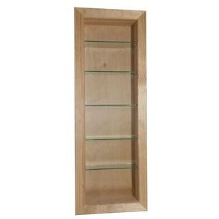 WG Wood Products Desoto Wood 54-inch Recessed In-the-wall Bathroom Shelf