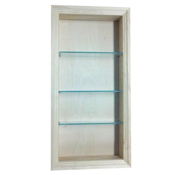 Desoto Pine Wood And Glass 30-inch Recessed-in-the-wall
