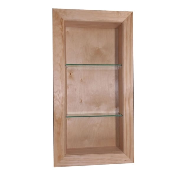 Desoto Wood Gl 18 Inch Recessed Bathroom Shelf