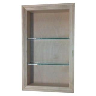 Desoto Wood/Glass 24-inch Recessed Bathroom Shelf