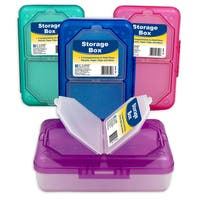 C Line Products Inc 48500 3 Compartment Storage Box Assorted Colors