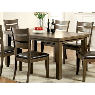 Furniture of America Frema Transitional Wooden Grey 66-inch Dining Table