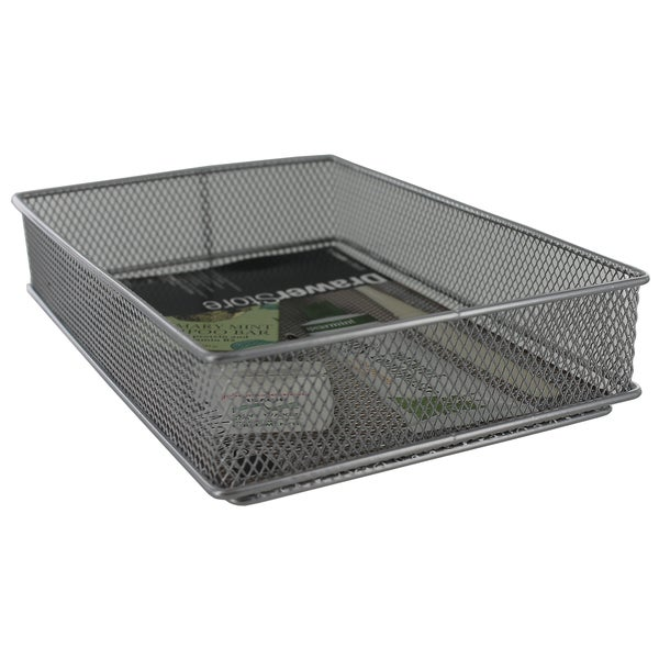"Design Ideas 120949 6"" X 9"" Silver Stainless Steel Mesh Drawer Organizer"