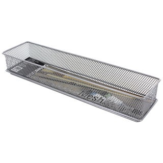"Design Ideas 120929 3"" X 12"" Silver Stainless Steel Mesh Drawer Organizer"