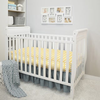 American Baby Company Gold/Grey Cotton 3-Piece Baby Crib Bedding Set