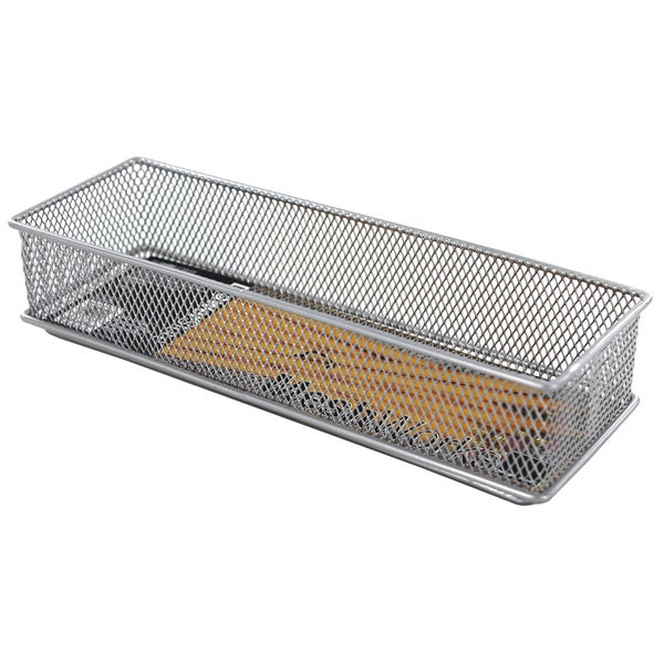 Design Ideas 120919 3 X 9 Silver Stainless Steel Mesh Drawer Organizer