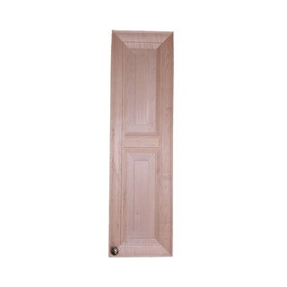 WG Wood Products Kendall Wood 37-inch x 3.5-inch D Frameless Narrow Recessed Bath Storage Cabinet