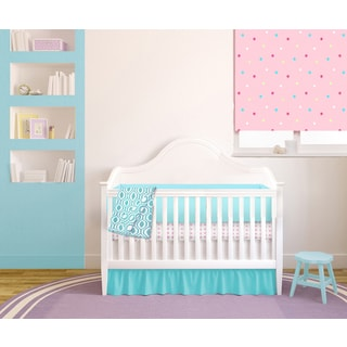 American Baby Company Pink & Teal 4-piece Baby Crib Bedding Set