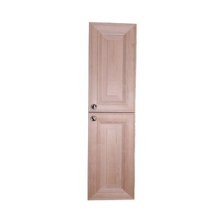 WG Wood Products Kendall Wood 67-inch Frameless Narrow Recessed Bath Pantry Style Storage Cabinet