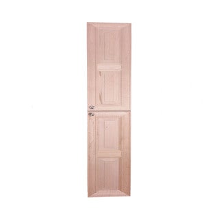 WG Wood Products Kendall Unfinished Wood 73-inch High X 3.5-inch Deep Frameless Recessed Bath Pantry-style Storage Cabinet