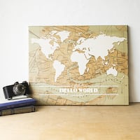 Travel the World Gallery Wrapped Canvas