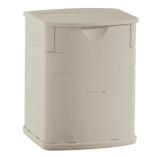 "Rubbermaid FG374301SSTON 11"" H X 6"" W X 5"" D Small Sand Color Deck Box"
