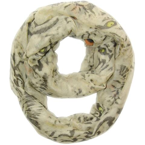 Peach Couture Tiger-print Infinity Scarf