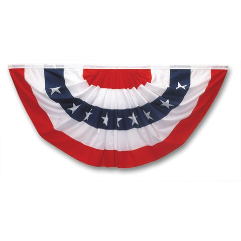 Valley Forge PMF 1.5' X 3' Pleated Mini Patriotic Fan Flag