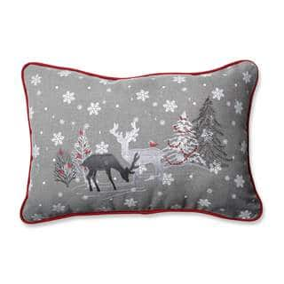 Pillow Perfect White Christmas Grey Rectangular Throw Pillow|https://ak1.ostkcdn.com/images/products/12512020/P19318562.jpg?impolicy=medium