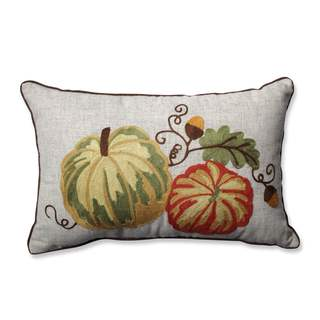Pillow Perfect Gourdy Harvest Rectangular Throw Pillow