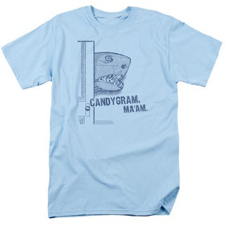 SNL/Land Shark Short Sleeve Adult T-Shirt 18/1 in Light Blue
