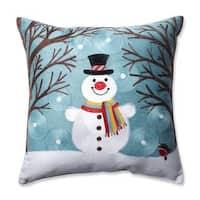 Pillow Perfect Winter Wonderland Frost 16.5-inch Throw Pillow