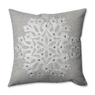 Pillow Perfect Snowflake Grey 16.5-inch Throw Pillow