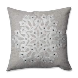 Pillow Perfect Snowflake Grey 16.5-inch Throw Pillow