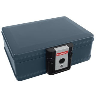 First Alert 2017F .19 Cubic Foot Gray Fire & Water Chest