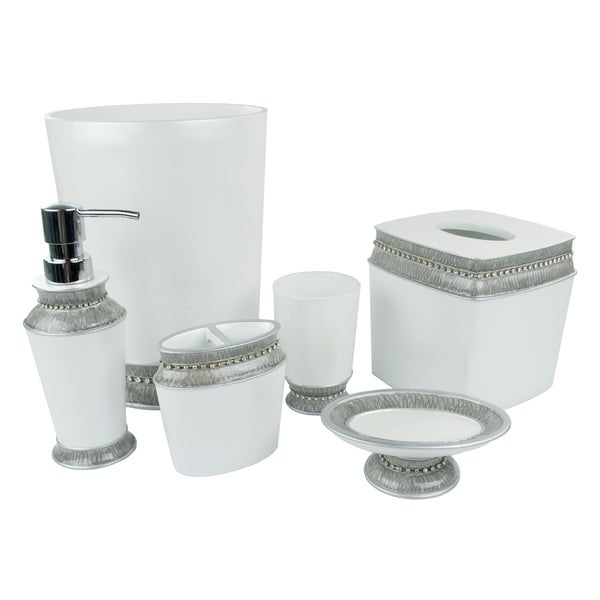 Sherry Kline Victoria Jewel Grey 6 Piece Bath Accessory Set