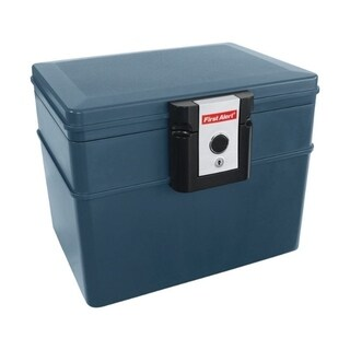 First Alert 0.62 cu. ft. Keyed 1/2 hr. File Chest Gray
