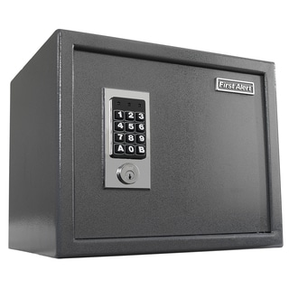 First Alert 2072F 1.0 Cubic Foot Gray Anti Theft Safe With Digital Lock