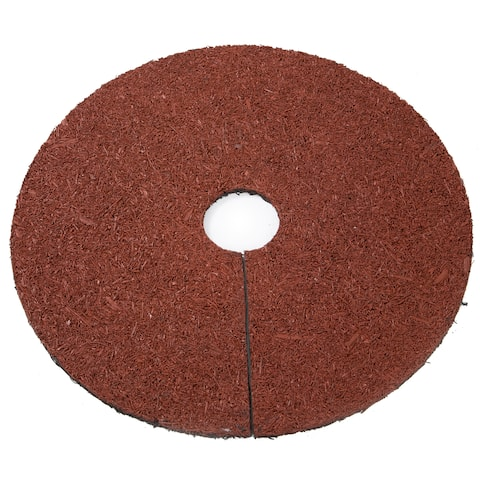 "Reversible Mulch Ring Tree Protector Mat - 24"" - by Trademark Innovations"