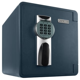 First Alert 2087DF .94 Cubic Foot Gray Fire & Water Safe With Digital Lock