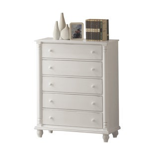 Coster Kayla White 5 Drawer Chest