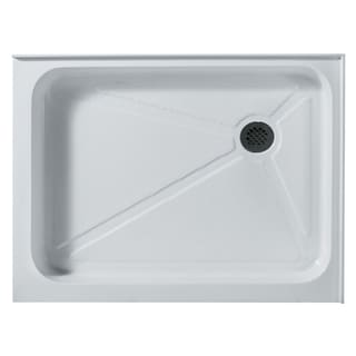 VIGO 36 x 48 Rectangular Shower Tray White Right Drain