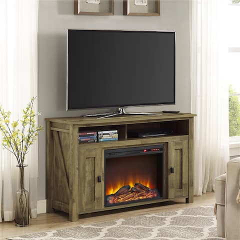 Ameriwood Home Farmington Heritage Light Pine 50-inch Media Fireplace