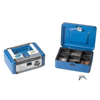 """Helix 81010 8"""" Blue Cash Box"""