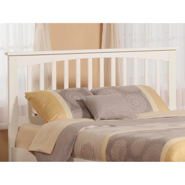 Shop Mission Headboard Queen White On Sale Free