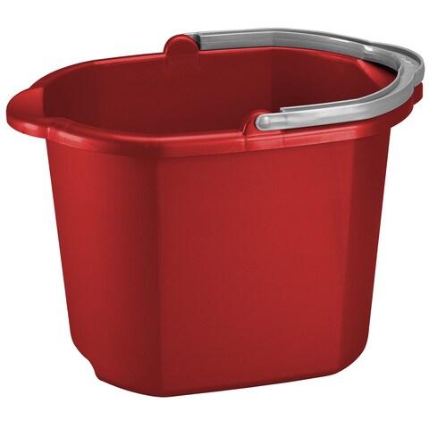 Sterilite 11215806 16 Quart Red Dual Spout Pail