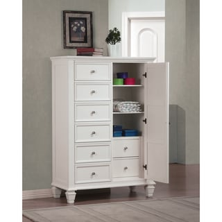 Coaster Company Sandy Beach White Door 7-drawer Chest
