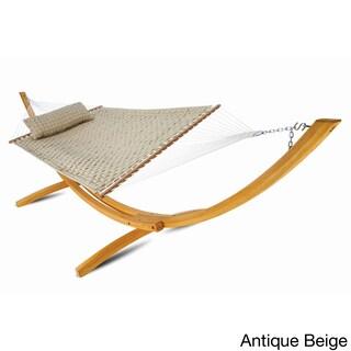 Hatteras Polypropylene Large Soft-weave Spreadar Bar-style Hammock (Option: Beige)