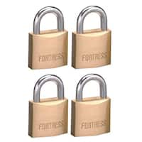 """Fortress 1840Q 1-9/16"""" #1840 Solid Brass Padlock 4-count"""