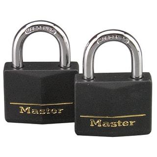 "Master Lock 141T 1-9/16"" Brass Weatherproof Padlock 2-count"
