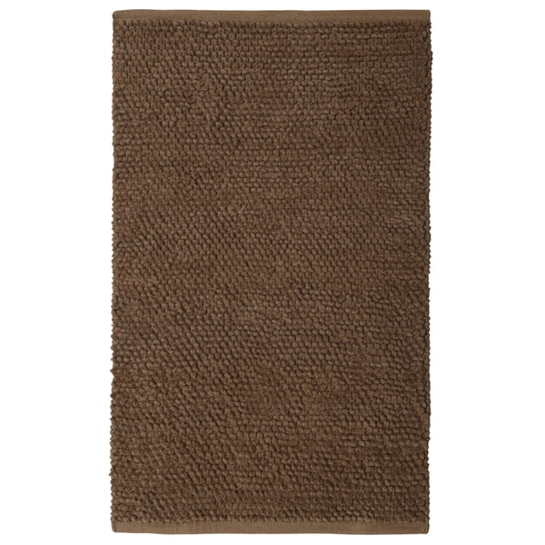 "Plush Nubby Coffee (21""x34"") Bath Rug"