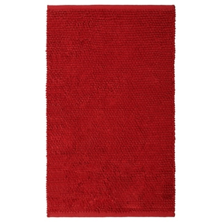 Plush Nubby Red Bath Rug (30 x 50-inch)